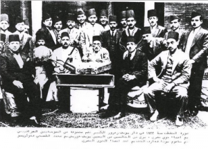 Baghdad Chalghi with the visiting Egyptian orchestra, 1932