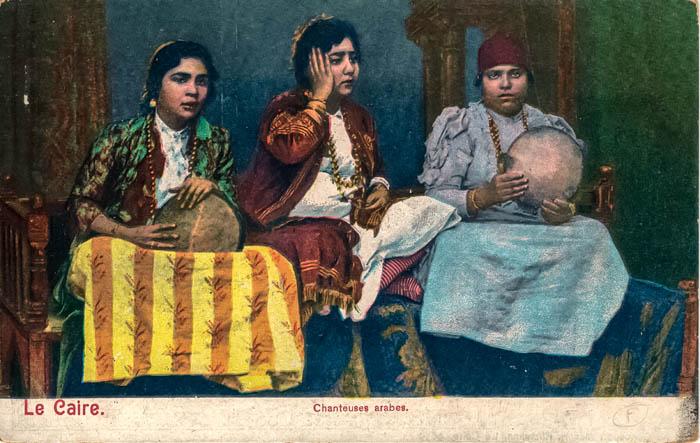 postcard-Le-Caire-chanteuses-arabes-en-couleurs-www